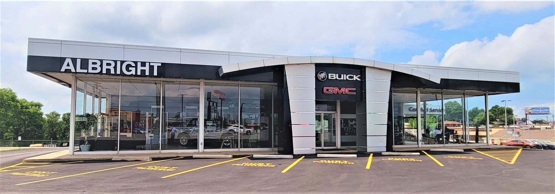 Front view of the dealership