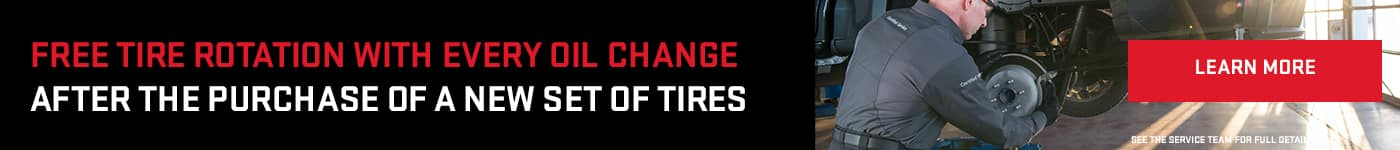 Free Tire Rotation With Every Oil Change After The Purchase Of A New Set Of Tires