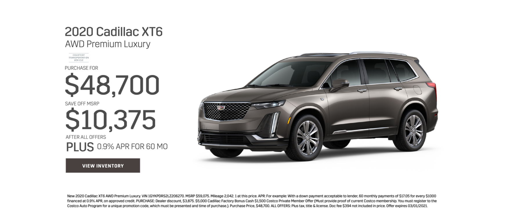 2020 Cadillac XT6 AWD Premium Luxury Purchase for $48,700