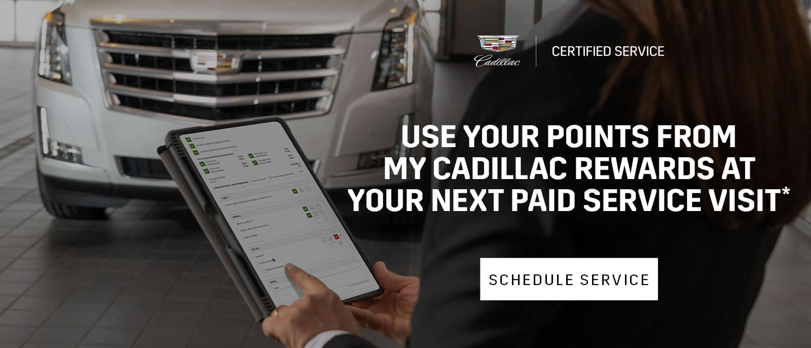 Use your points from My Cadillac Rewards