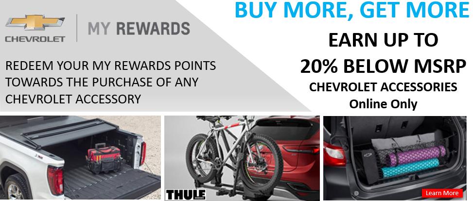 Buy More, Get More. 20% Below MSRP Accessory Banner