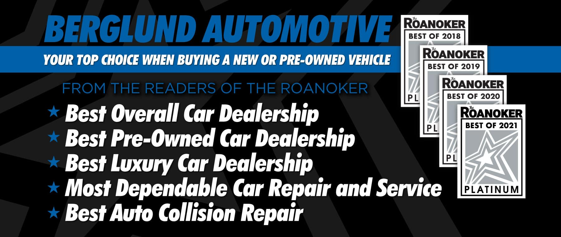 Berglund Automotive - Your Top Choice When Buying a New or Pre-Owned Vehicle