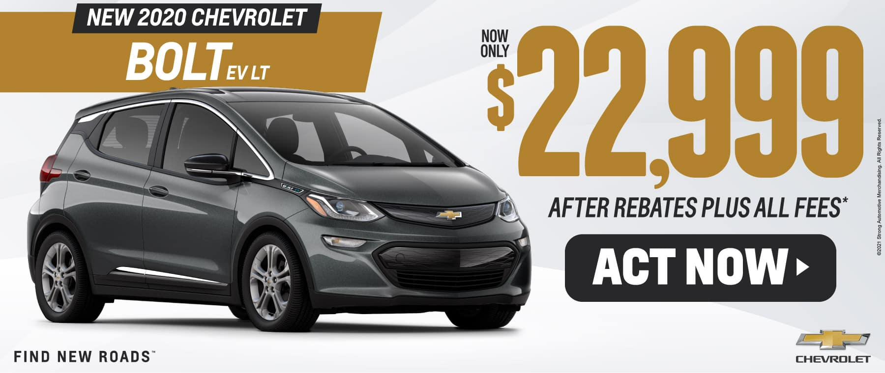 New 2020 Chevrolet Bolt only $22,999 - ACT NOW