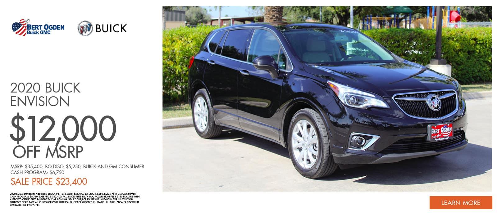 2020 Buick Envision Specials | Bert Ogden Buick GMC | Edinburg, TX
