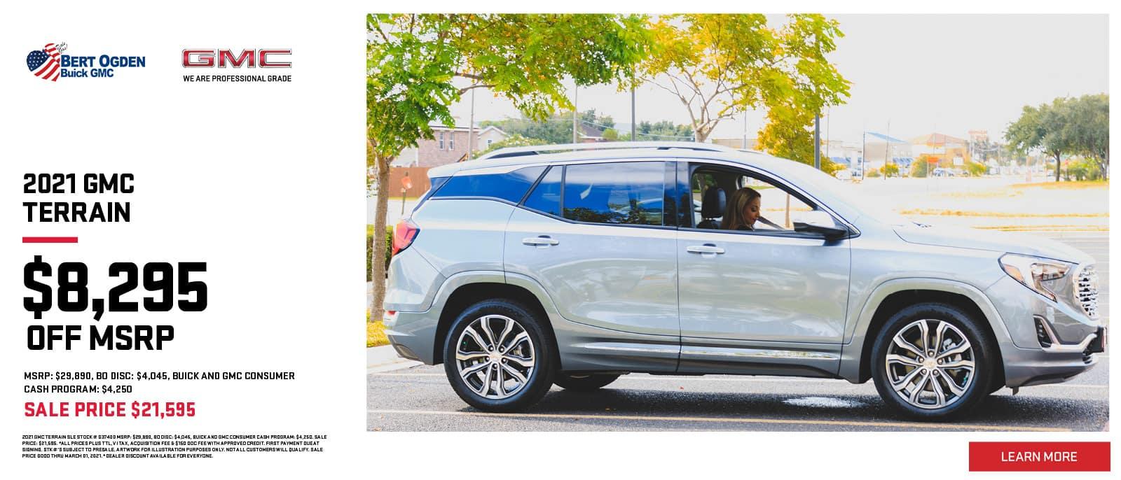 2021 GMC Terrain Special | Bert Ogden Buick GMC | Edinburg, TX