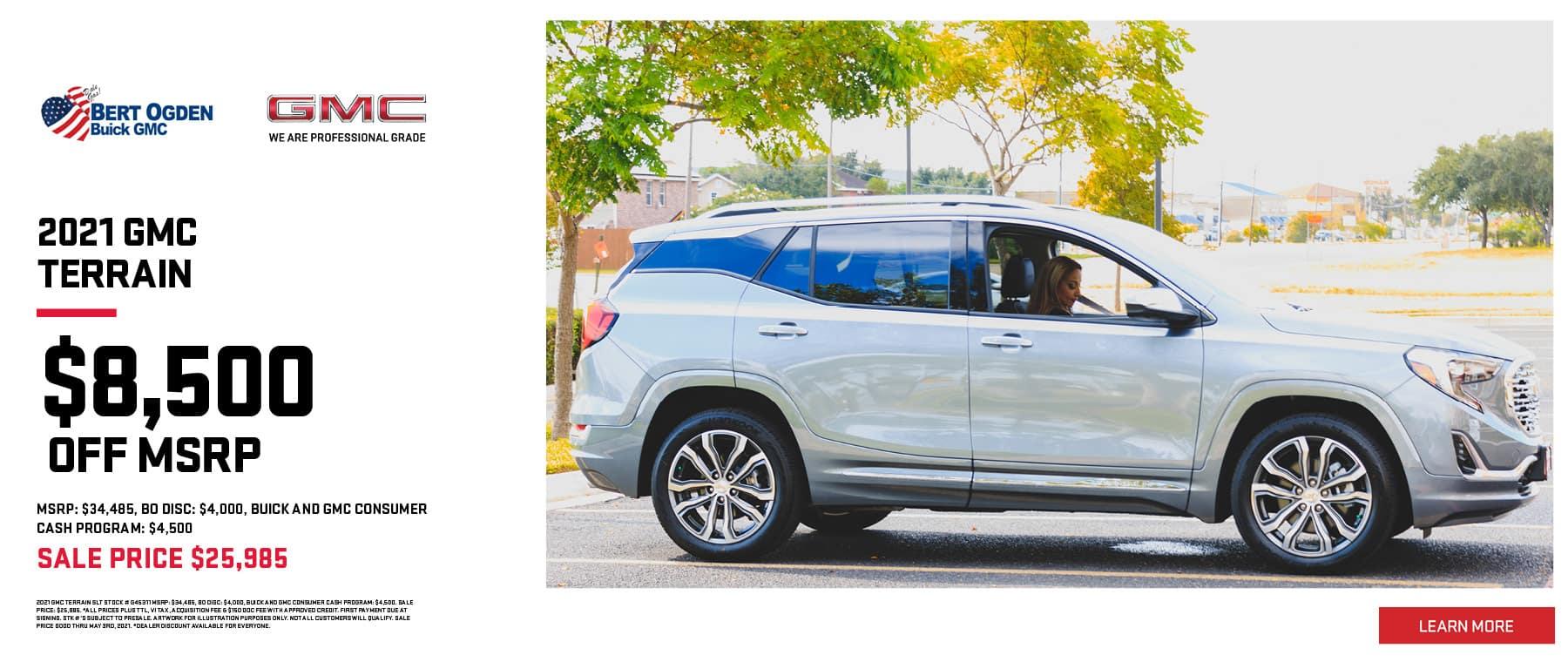 2021 GMC Terrain | Bert Ogden Buick GMC | Edinburg, TX