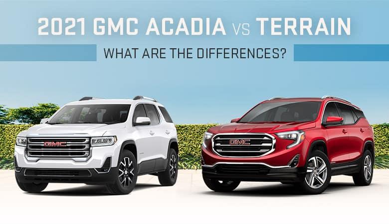 2021 GMC Terrain vs. Acadia | Bert Ogden Buick GMC | Edinburg, TX