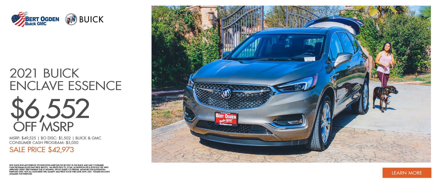 Save On The 2021 Buick Enclave Essence | Bert Ogden Buick GMC | Edinburg, TX