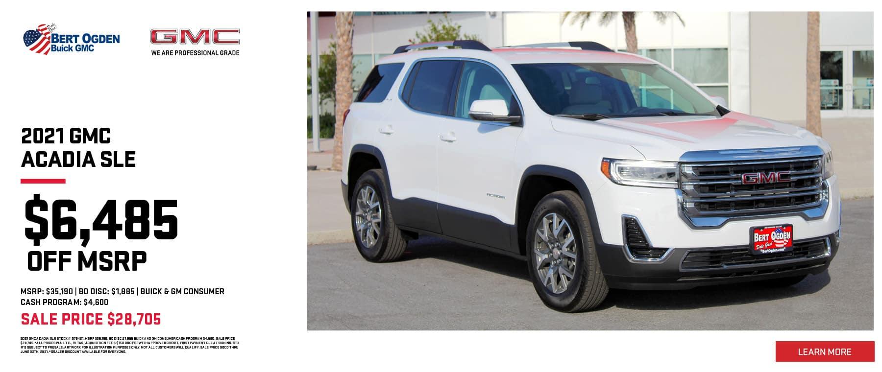 Save On The 2021 GMC Acadia SLE | Bert Ogden Buick GMC | Edinburg, TX