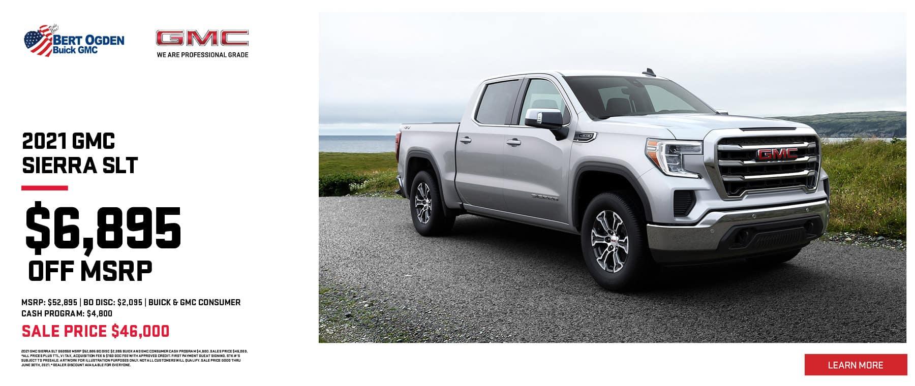 Save On The 2021 Sierra SLT | Bert Ogden Buick GMC | Edinburg, TX