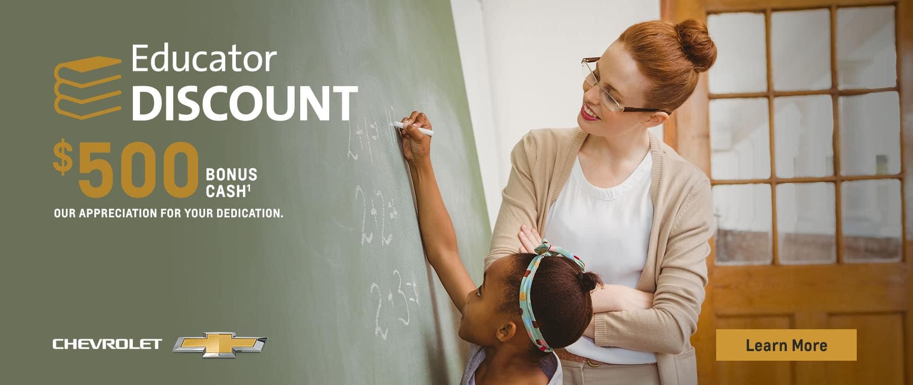 $500 Bonus Cash for Educators
