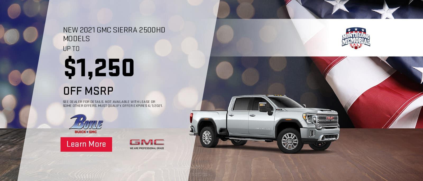 2021 gmc sierra 2500hd