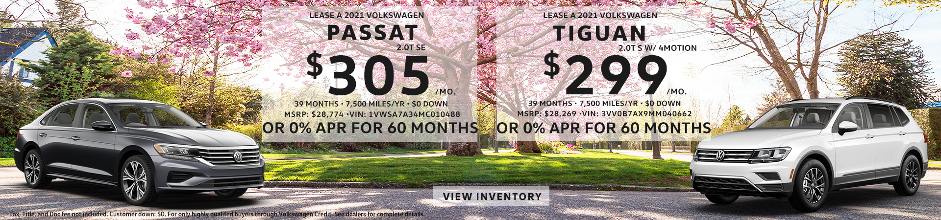 Tiguan and Passat Eastside VW May 21