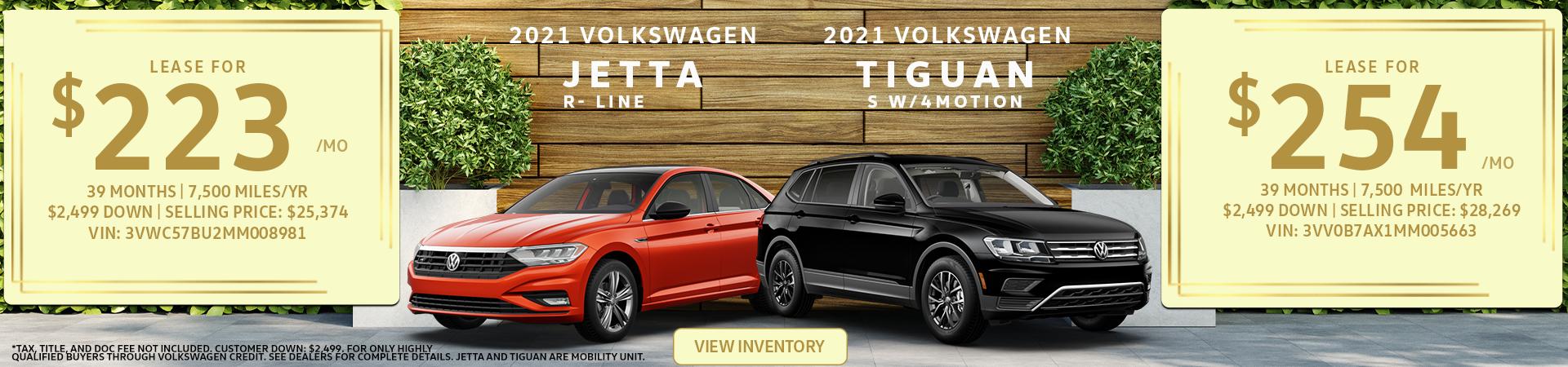 Jetta and Tiguan Eastside VW June 2021