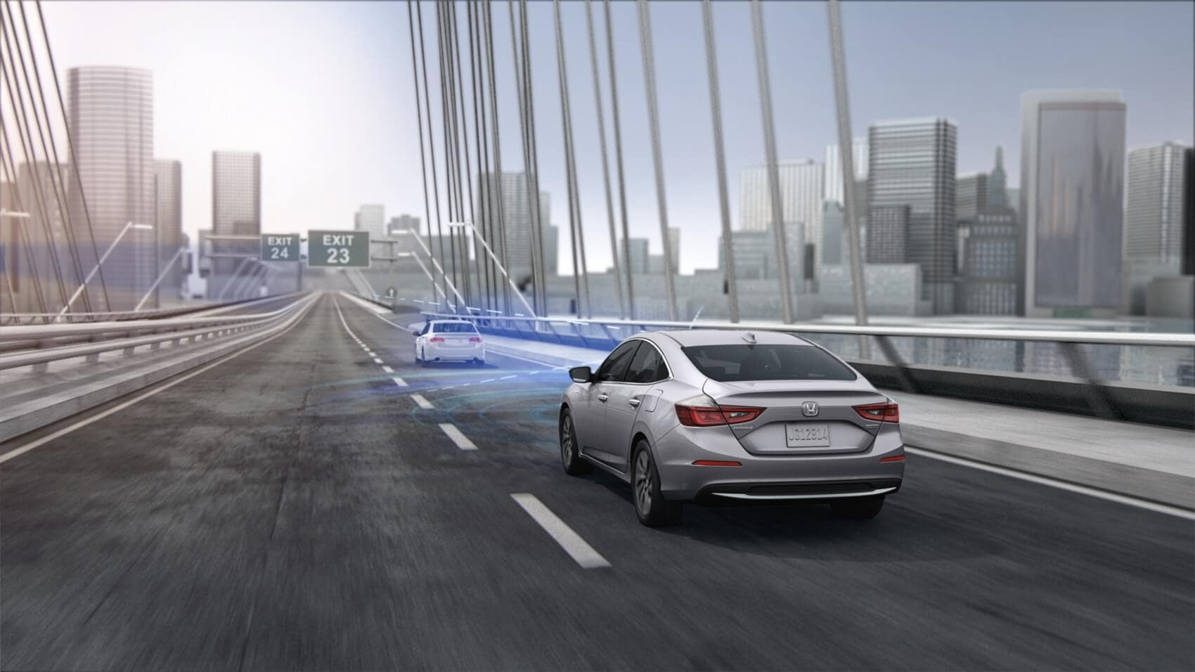 Honda Insight driving while using Honda Sensing®