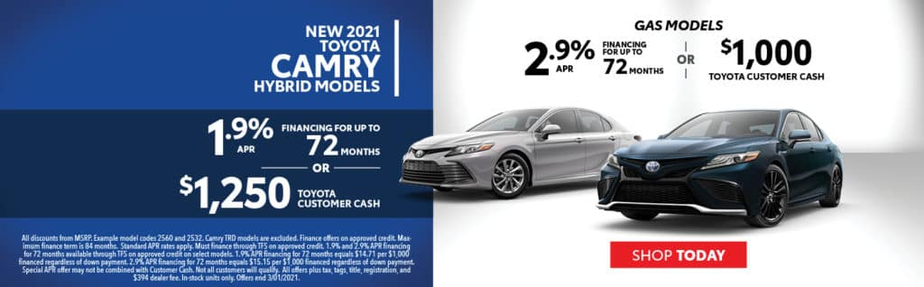 2021 Camry Offers