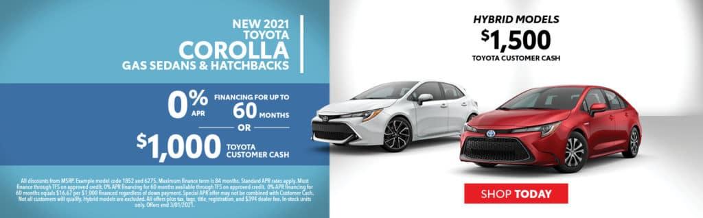 2021 Corolla Offers