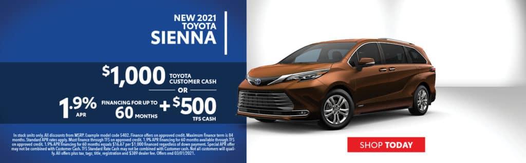 2021 Sienna Offers