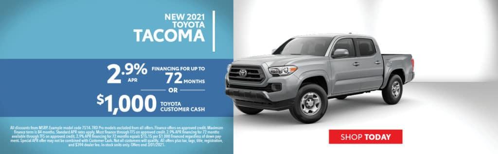 2021 Tacoma Offers
