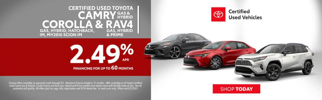 Certified Used Toyota Models