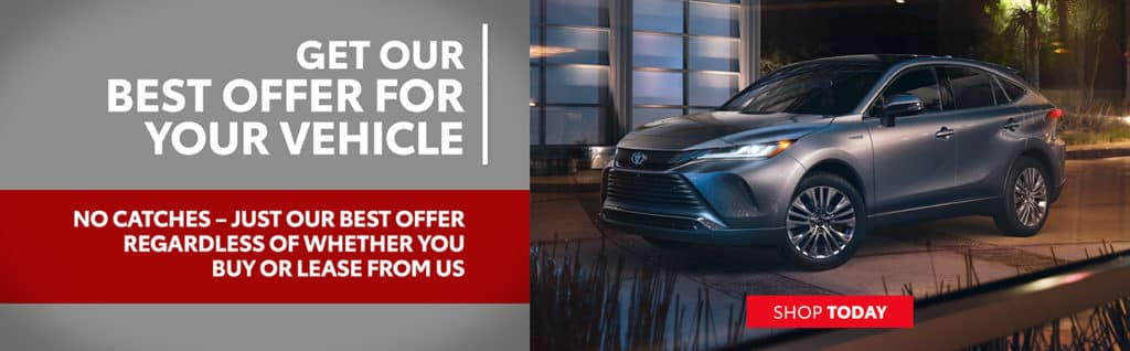 Get Our Best Offer For Your Vehicle