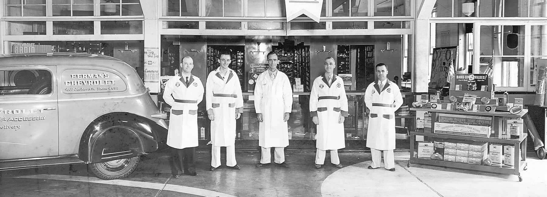 Photo of Ferman Chevrolet of Tampa Parts Department Circa 1930s