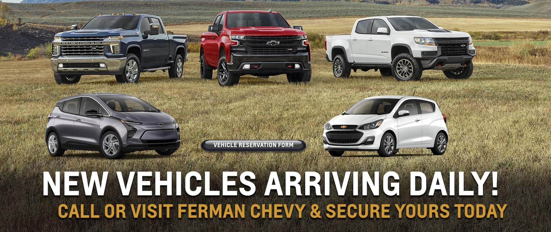 New Vehicles Arriving Daily! | Call or Visit Ferman Chevy of Tampa & Secure Yours Today