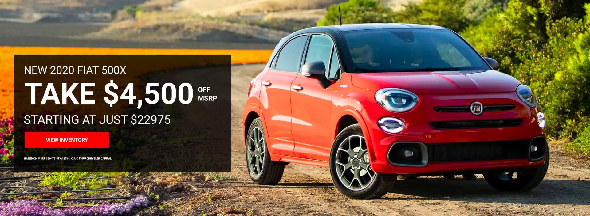Fiat 500X $4500 off MSRP