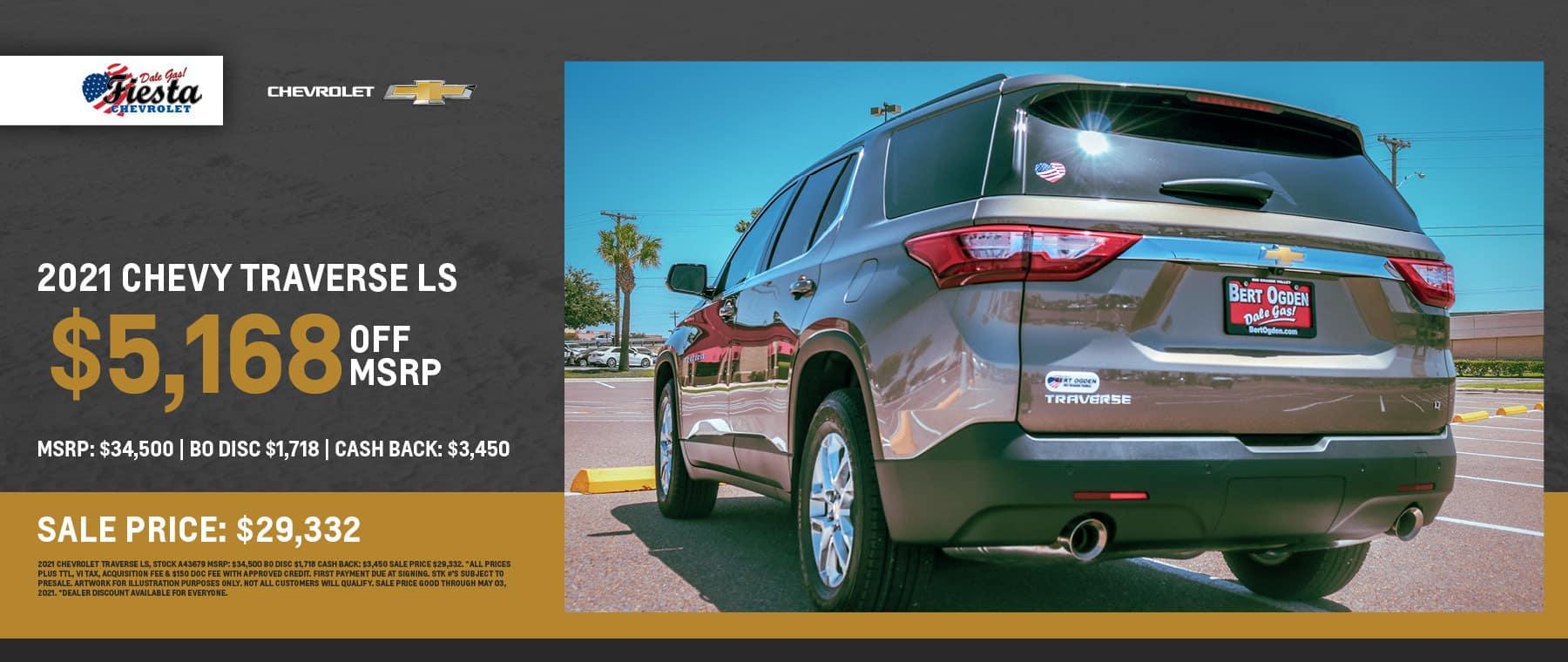 2021 Chevrolet Traverse LS Offer - Fiesta Chevrolet in Edinburg, Texas