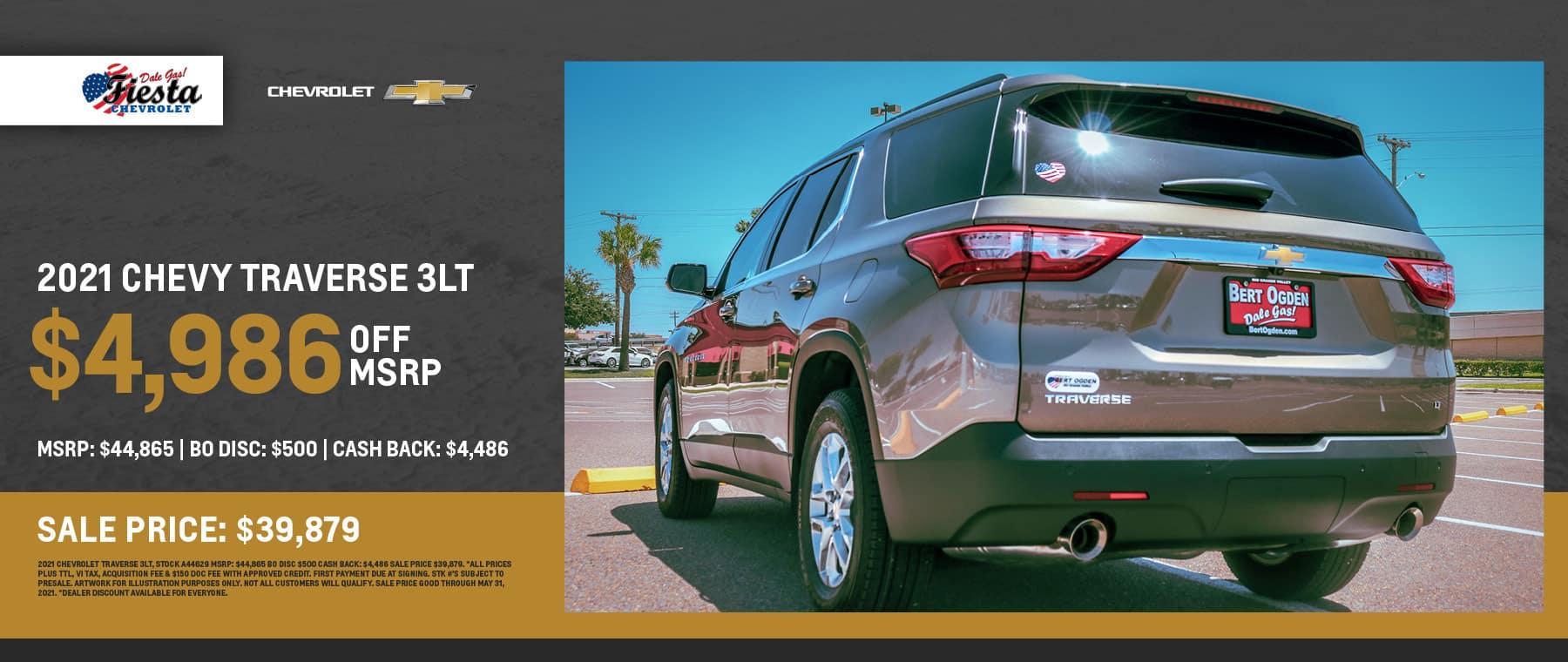 2021 Chevrolet Traverse 3LT - Fiesta Chevrolet in Edinburg, Texas