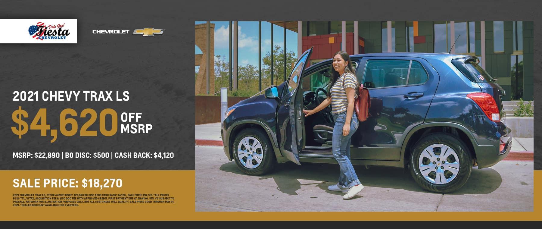 2021 Chevrolet Trax LS - Fiesta Chevrolet in Edinburg, Texas