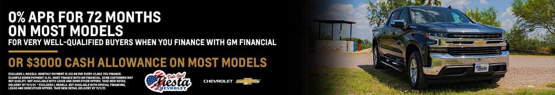 0% APR or $3K Cash Allowance on Most Chevrolet Models | Fiesta Chevrolet in Edinburg, Texas