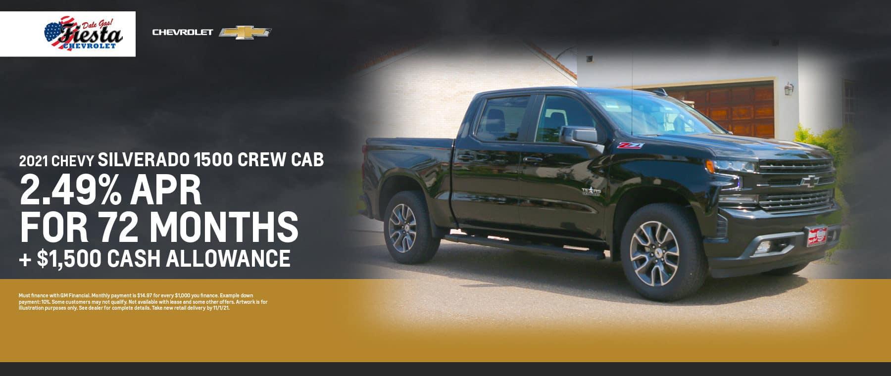2021 Chevrolet Silverado 1500 Crew Cab Offer   Fiesta Chevrolet in Edinburg, Texas