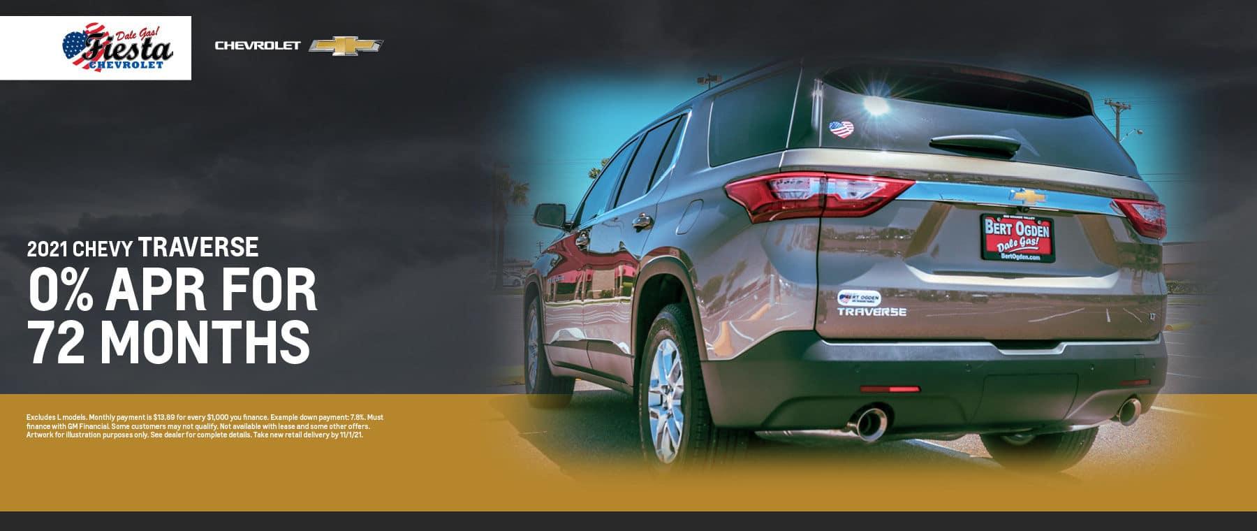 2021 Chevrolet Traverse Offer   Fiesta Chevrolet in Edinburg, Texas
