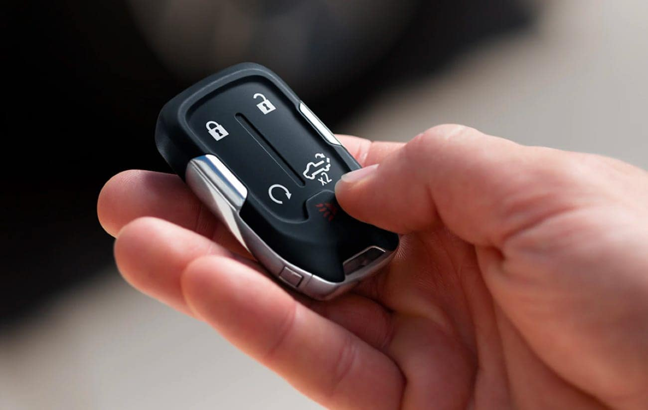 Key fob in someone's hand