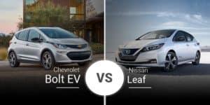 model comparison all 2020 Leaf vs Bolt