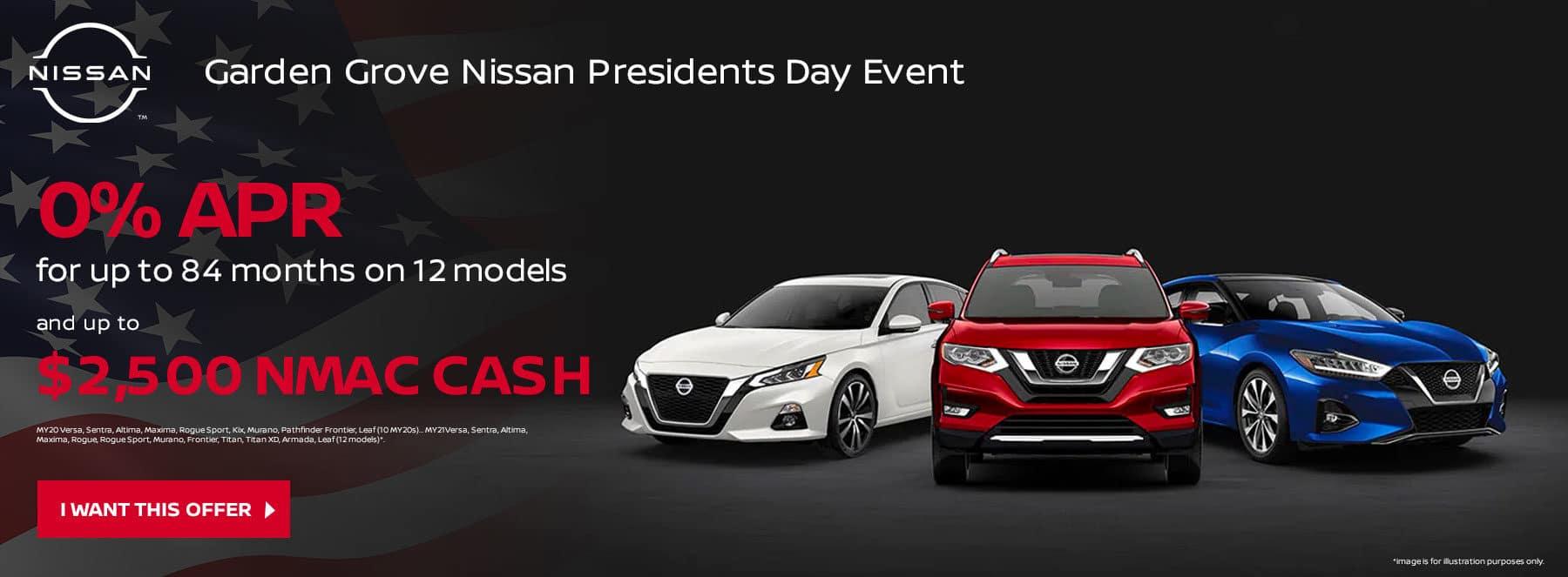 Garden Grove Nissan Presidents Day Event