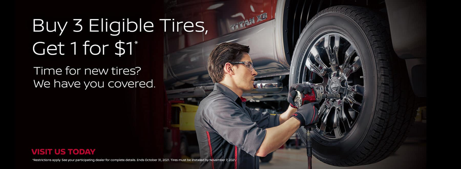 Garden Grove Nissan Buy 3 Get 1 Free Tire Offer