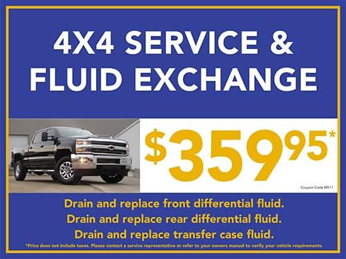 4 X4 Service & Fluid Exchange