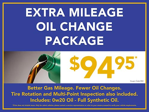 Extra Mileage Oil Change Package