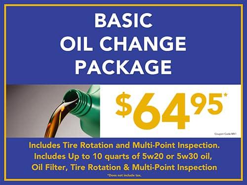 Basic Oil Change Package