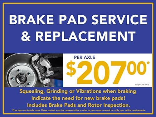 Brake Pad Service & Replacement