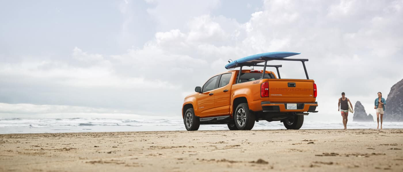 2021 Chevy Colorado parked on the beach
