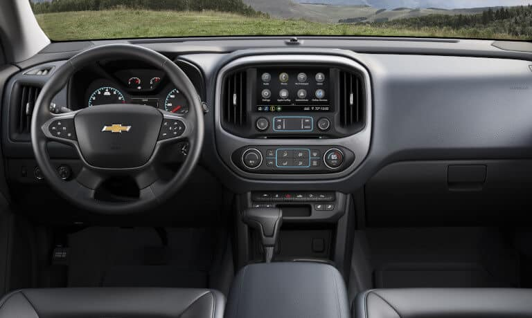 2021 Chevy Colorado interior front dashboard view
