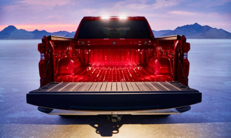 2021 Chevy Silverado 1500 truck bed view