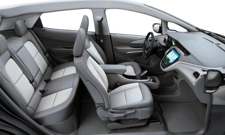 2021 Chevy Bolt EV interior seating view