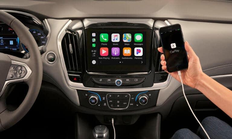 2021 Chevy Traverse Interior AppleCar Play feature