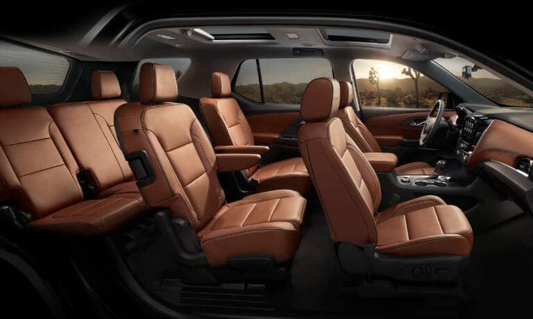 2021 Chevy Traverse Interior seating view