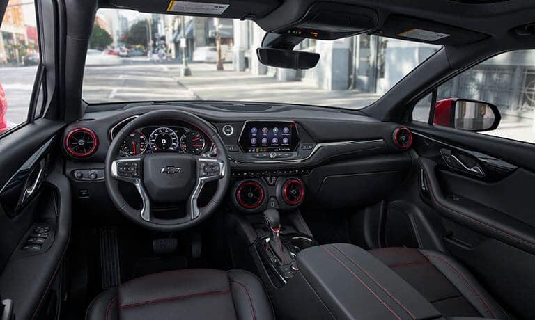 2021 Chevy Blazer interior front dashboard