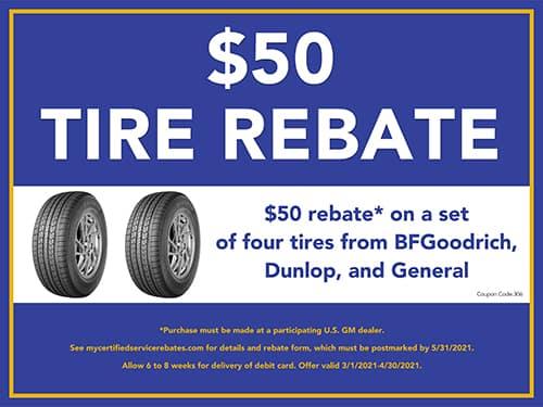 $50 Tire Rebate